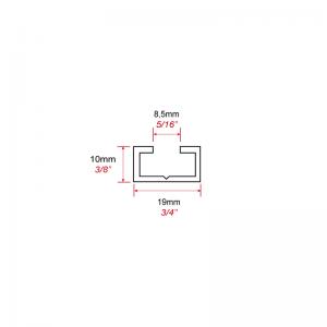 Advanced Display Systems | Floor Ceiling Fixing Rail Bar