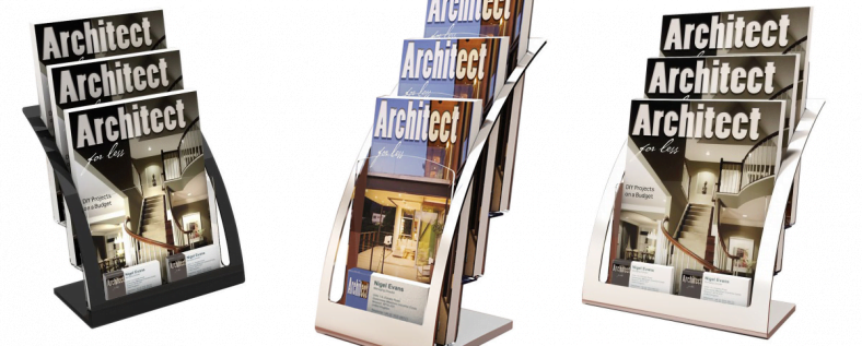 Advanced Display Systems | Arc Tiered Brochure Holder