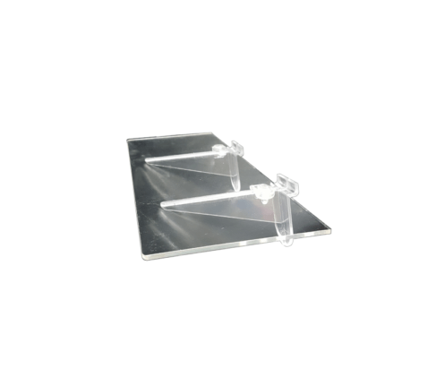 Advanced Display Systems | Flat Acrylic Shelves with Supports