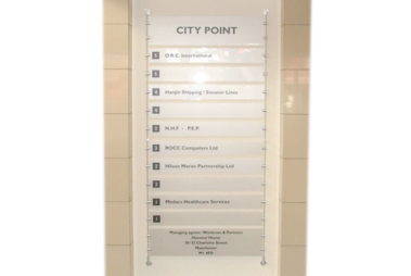 Advanced Display Systems | Rod Mounted Signage