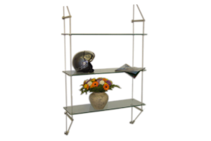 Advanced Display Systems | Suspended Cable and Rod Shelving