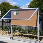 Weatherpro Notice Board Freestanding | Advanced Display Systems