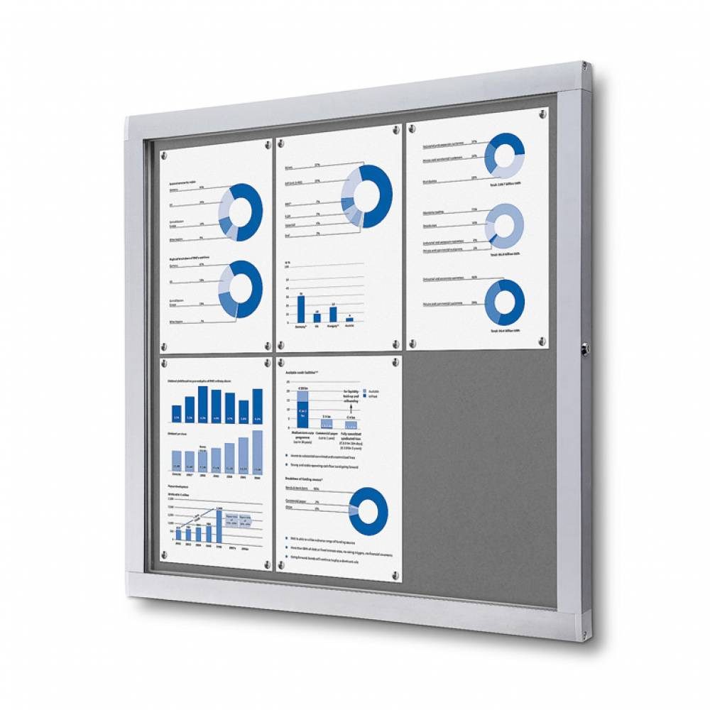 Advanced Display Systems | Lockable Notice Board 6xA4