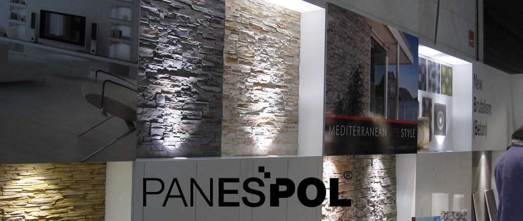 Panespol decorative wall panels exhibition stand